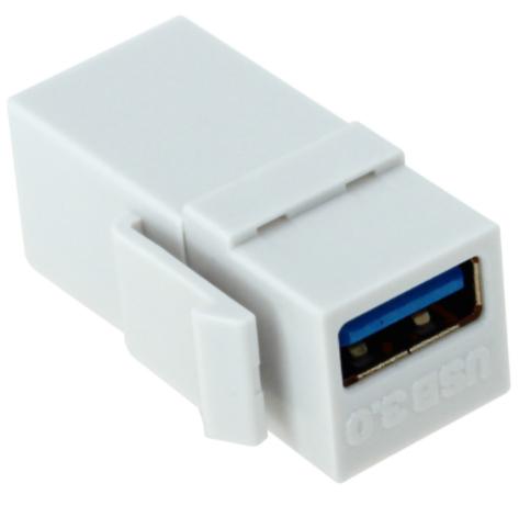 USB 3.0 Keystone Female to Female - White