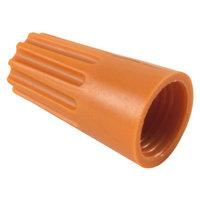 Twist on Wire Nuts w/ Spring Insert 16-14 AWG Orange - 100 Pack