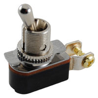 "SPST - On / Off - Screw Terminals - 6A - 1/2"" Mounting"
