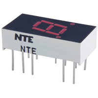 "NTE3061 0.3"" Single Digit Numeric Display, Seven Segment, Common Anode,Red"