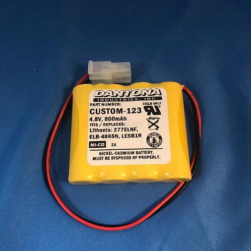 ELB-4865N Replacement Battery CUSTOM-123