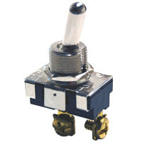 """SPST - Momentary On - Screw Terminals - 20A - 1/2"""" Mounting"""