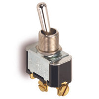 "SPDT - Momentary On - Screw Terminals - 15A - 1/2"" Mounting"
