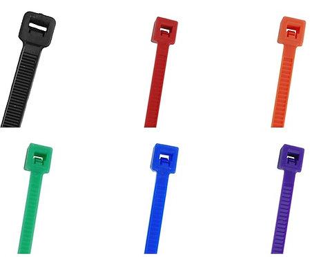 """4"""" 18lb Miniature Nylon Cable Ties 100/pk"""
