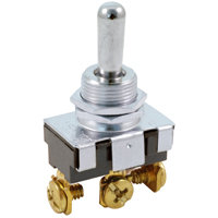 """SPDT - Momentary On / Off / Momentary On - Screw Terminals - 20A - 1/2"""" Mounting"""