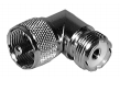 UHF Right Angle Adaptor - Male to Female