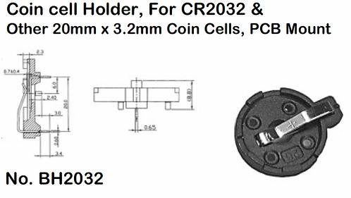 CR2032 Battery Holder - PCB Mount