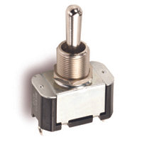 """SPST - On / Off - Solder Lugs - 15A - 1/2"""" Mounting"""