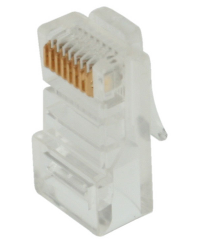 RJ-45 for Cat5e 50u Gold Plated - 50 Pack