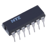 NTE4001B IC, CMOS, Quad 2−Input NOR Gate