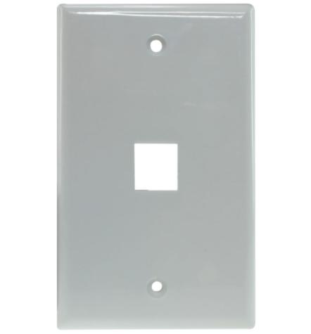 Keystone Jack Wall Plate - White 1 to 6 Port
