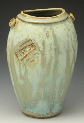 "Oval Vase, 6""   $45"