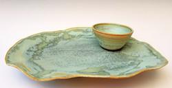 Seafoam Plate & Sauce Cup