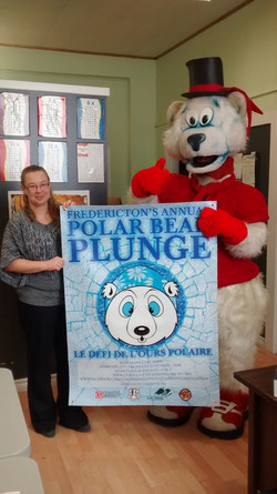 Icy Bear is excited for the Plunge!