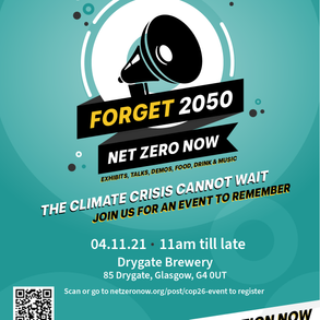 NZN at COP26 - Forget 2050 - Event Invite