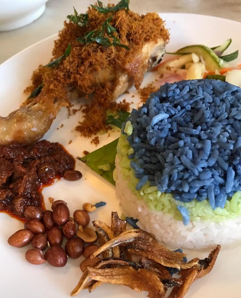 Nasi Lemak | Butterfly Blue Pea Flower | Recipe MY BLUE TEA