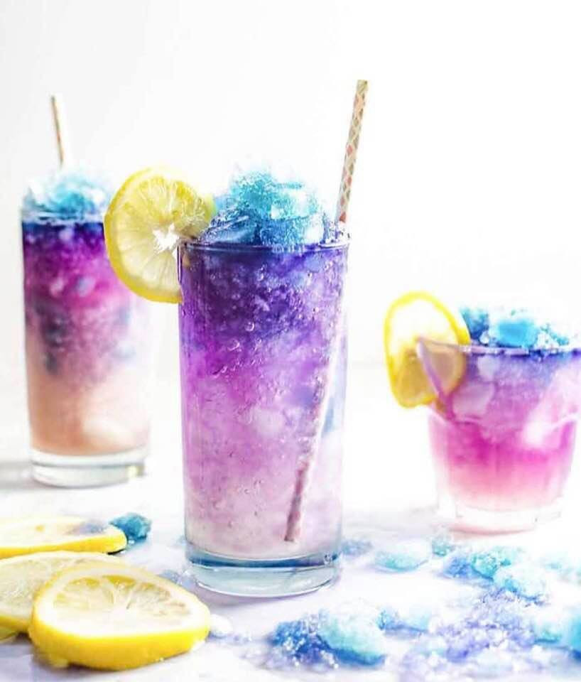 Blue and Purple Slushie recipe from My Blue Tea | Where to buy Blue Tea?