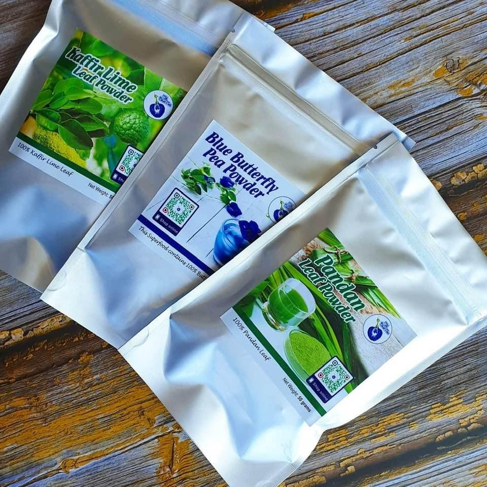 Pandan | Butterfly Pea | Kaffir Lime Leaf