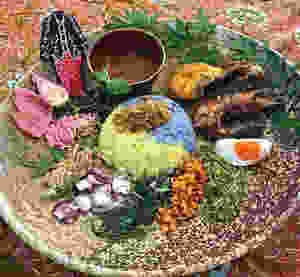 Nasi Ulam | Torch Ginger | Bunga Kantan | Butterfly Pea