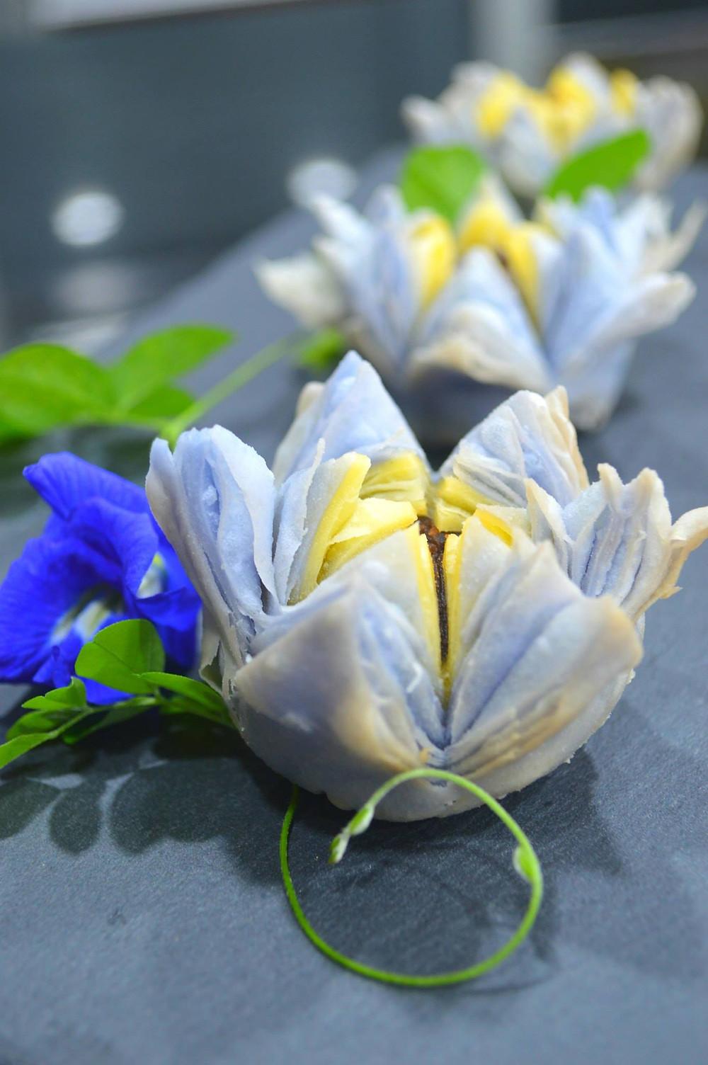 Blue Lotus Flower recipe | Loh Poh Peang | My Blue Tea