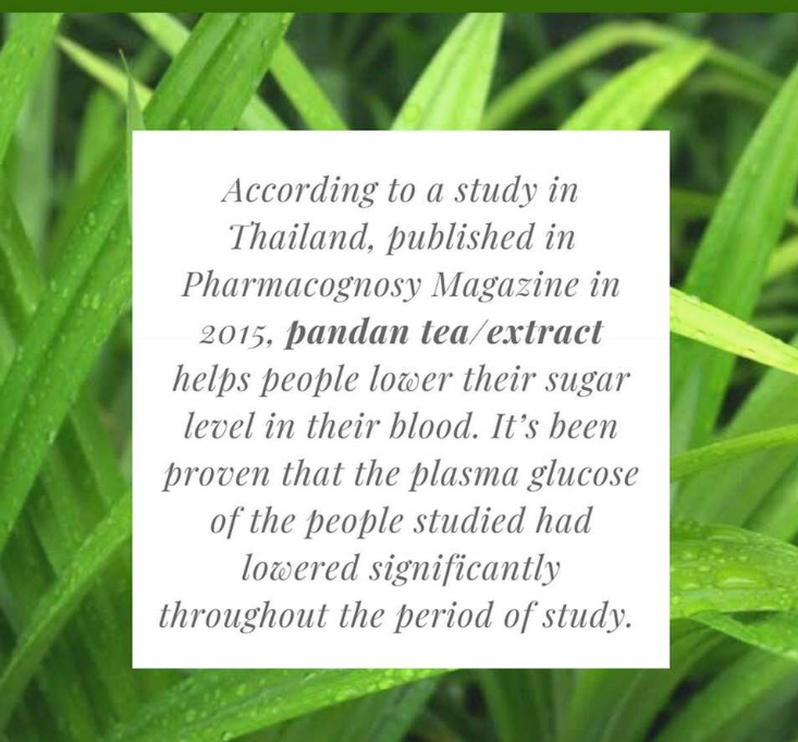 The benefits of Pandan Leaf Extract from My Blue Tea