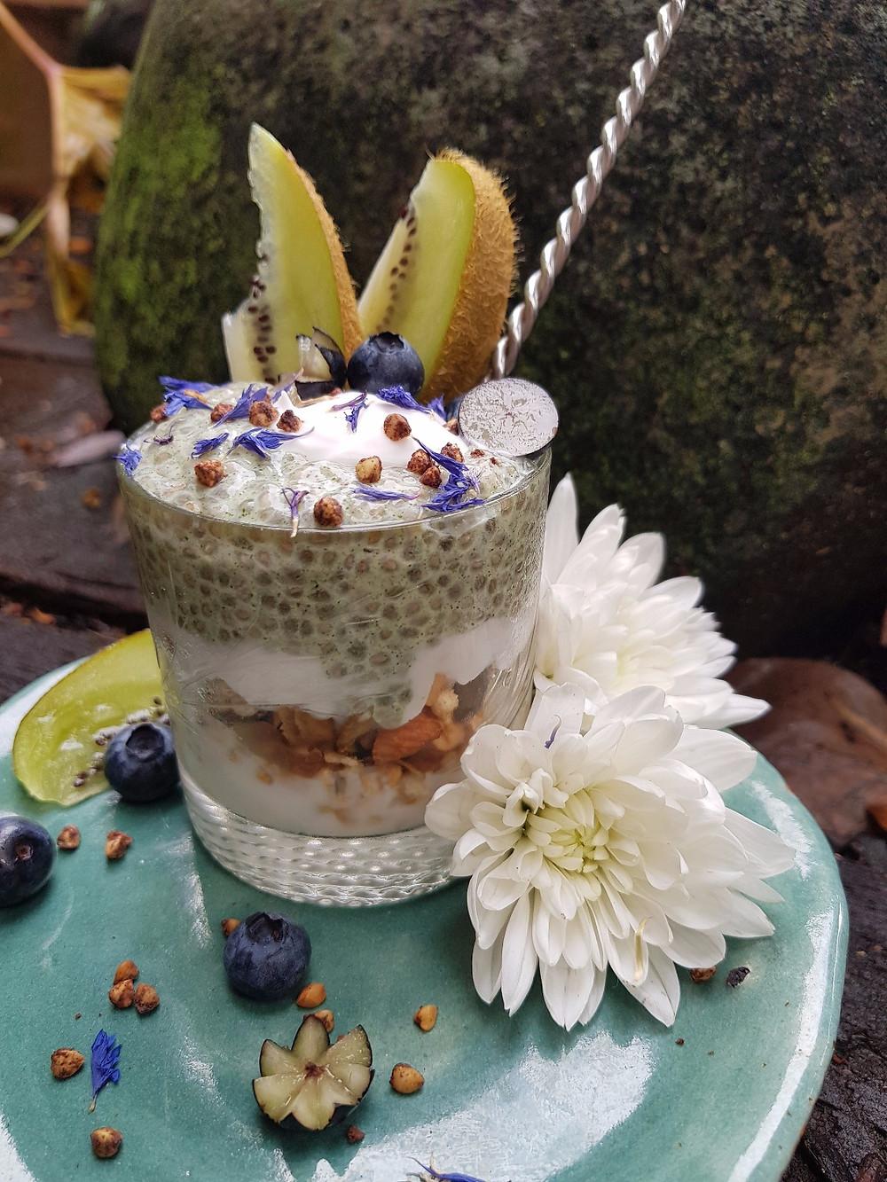 Kaffir Lime Leaf | Chia Pudding | BLUE TEA