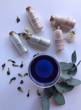 Blue Butterfly Pea Facemask and Roselle Facemask