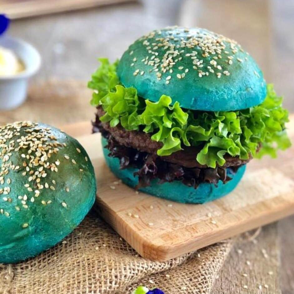 Butterfly Pea Blue Burger Bungs | MY BLUE TEA