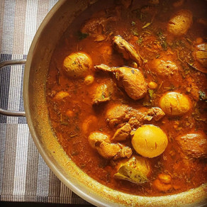 Kaffir Lime Leaf Curry with Chicken and Eggs