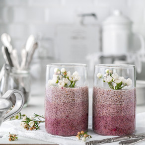 OMBRE ROSE CHIA PUDDING