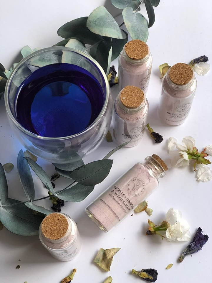 Organic natural Face Mask made with Butterfly Pea | BLUE TEA