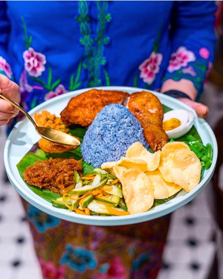Nasi Kerabu | Clitoria Ternatea