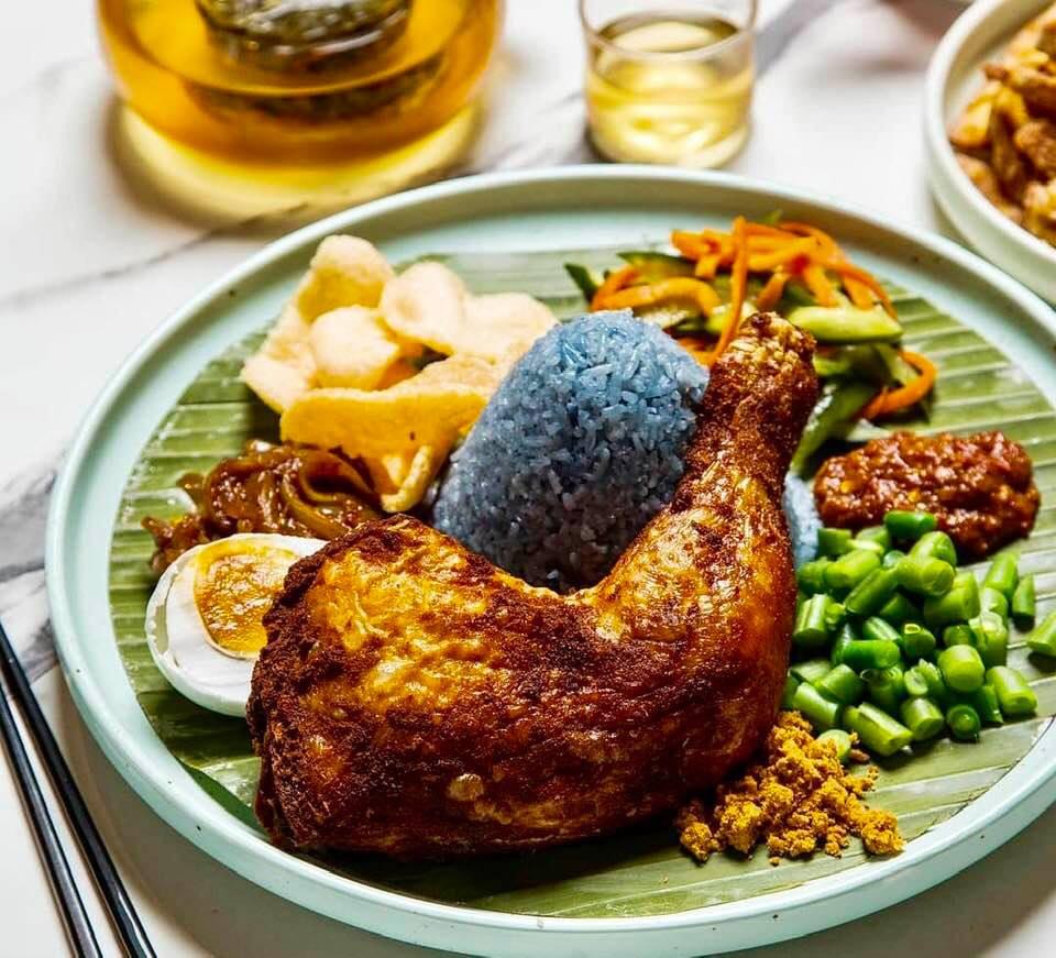 Nasi Kerabu | Kantan | Blue Tea | Butterfly Pea