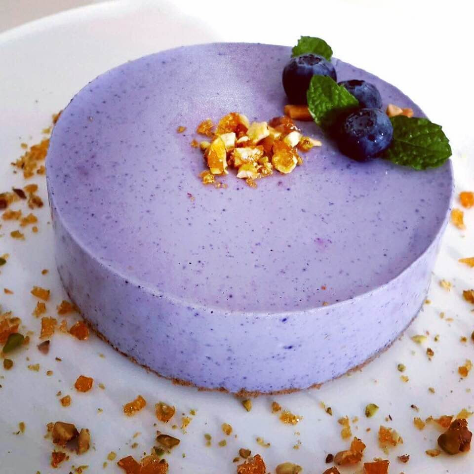 Butterfly Pea Cheesecake | Recipe on My Blue Tea Blog
