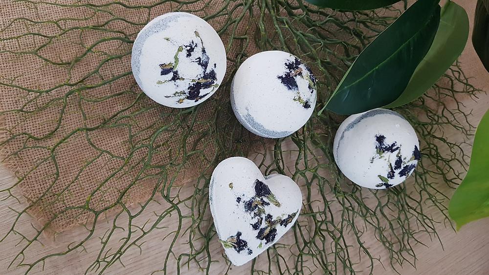 Butterfly Pea Bath Bombs | Blue Tea