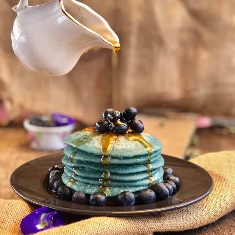 Butterfly Pea | Pancake | Blue Pancake | MY BLUE TEA