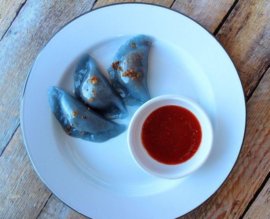 Soon Kueh or Chai Kueh or Blue Dumplings