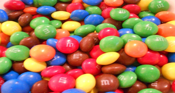 Artificial colouring M&Ms