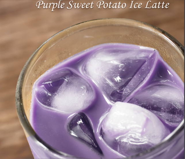Purple Sweet Potato Latte | MY BLUE TEA