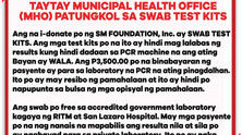 Health Office's Clarification On Swab Test Kits