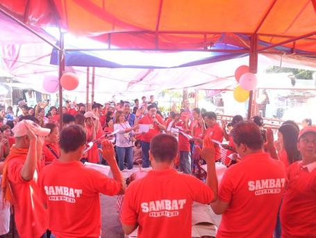 Oath-taking of the newly elected officers and members of SAMBAT (Samahang Maralita ng Sitio Bato-Bat