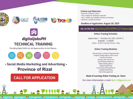 Digital Jobs PH Technical Training on Social Media Marketing and Advertising
