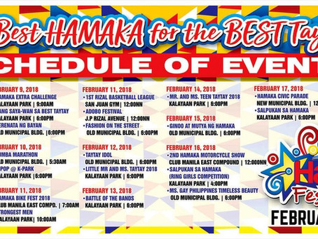 THE SCHEDULE OF EVENTS FOR THE BEST HAMAKA FESTIVAL 2018!!!