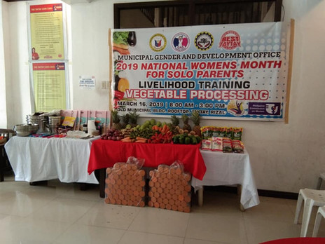 Vegetable processing ,solo parent livelihood program