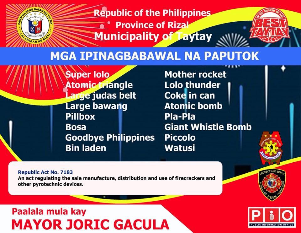 Mga Ipinagbabawal na paputok