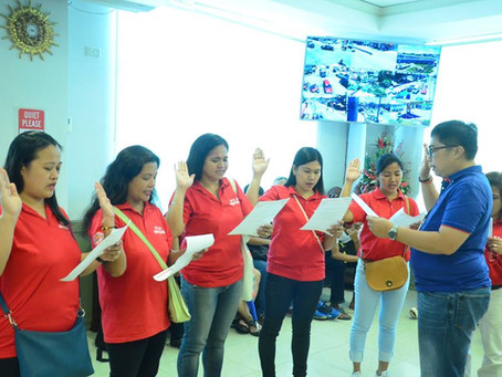 Oath-taking of the newly elected officers and members of HAPAY NA MANGGA ELEMENTARY SCHOOL GPTA.