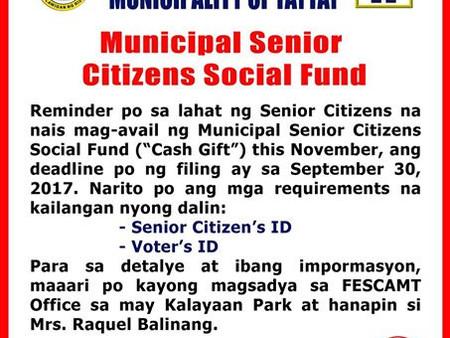 To All Taytay Senior Citizen
