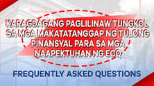 FAQs on Cash Assistance (Ayuda)