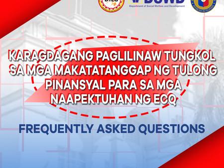 FAQs on Cash Assistance (Ayuda)