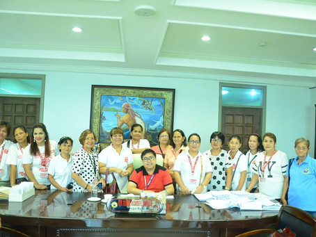 Courtesy visit of the Barangay Health Workers